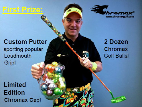 FINAL First Prize-Matt Photo putter & Pitcher of balls