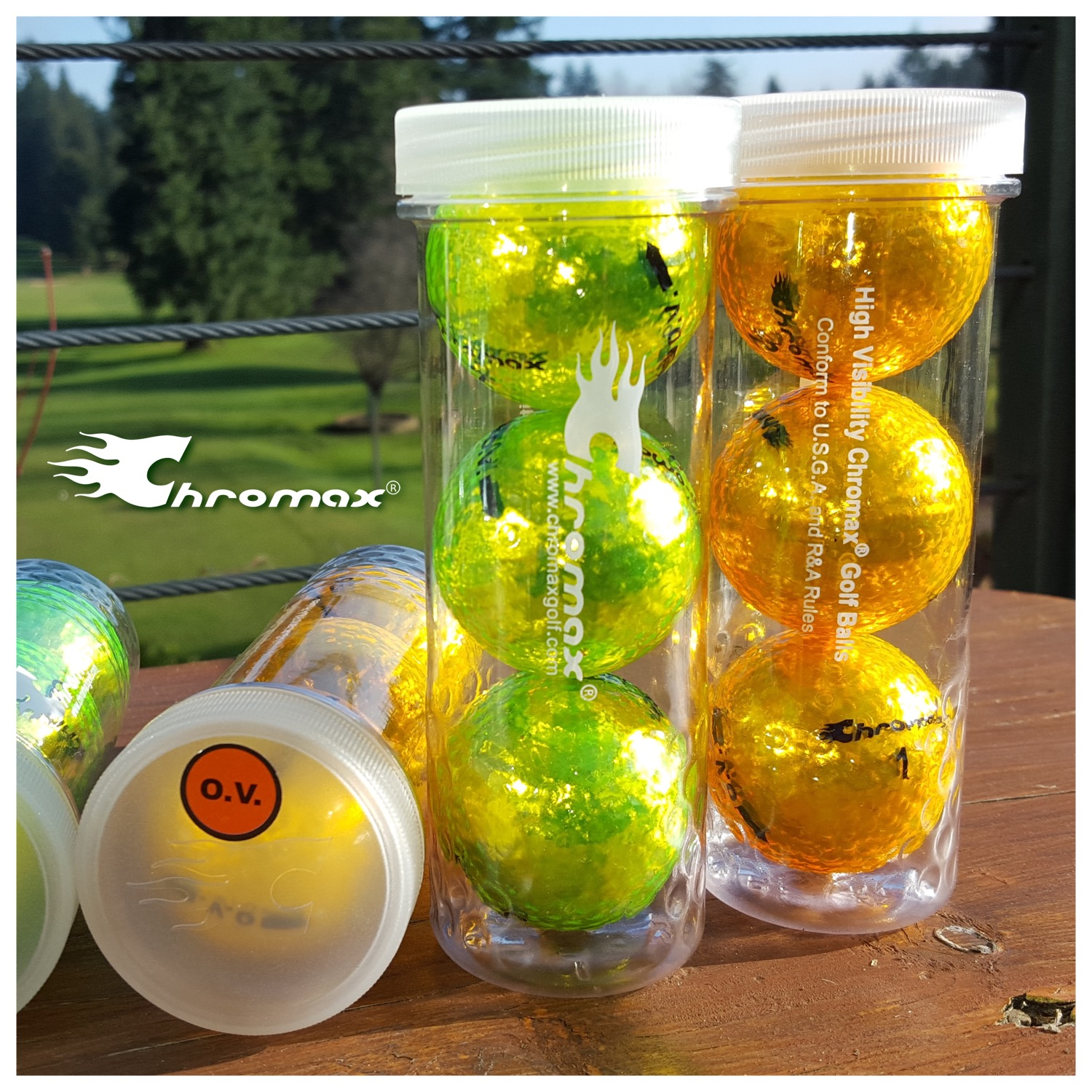 Chromax - OV Tubes - Square - Golf Course in Background
