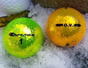 High Visibility Yellow Golf Balls