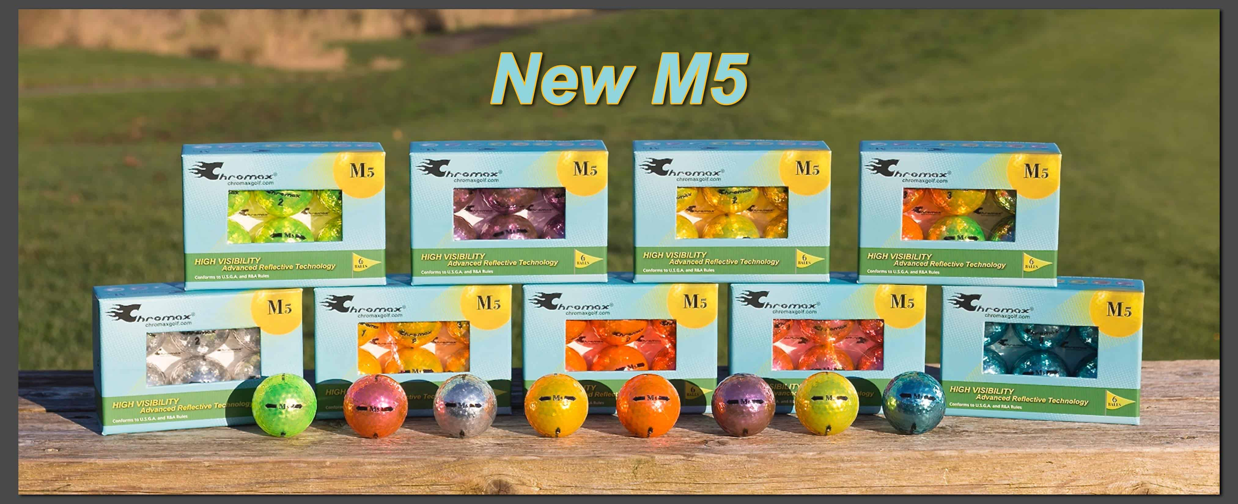 M5 High Visibility Colored Golf Balls