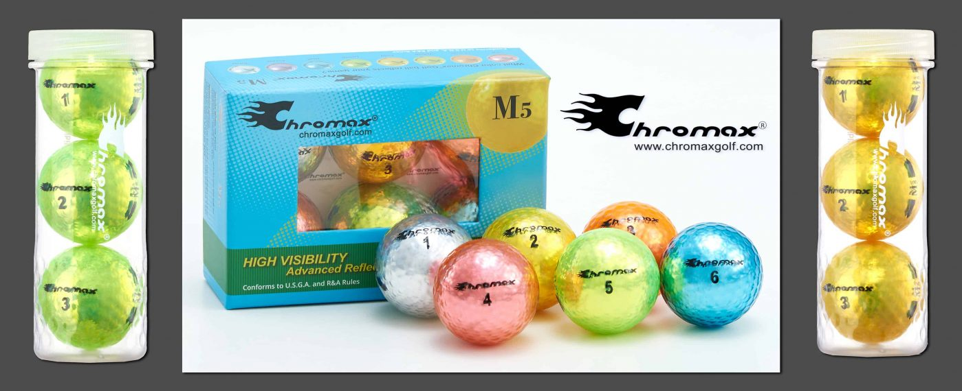 Chromax mixed color golf balls