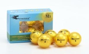 Gold Golf Balls