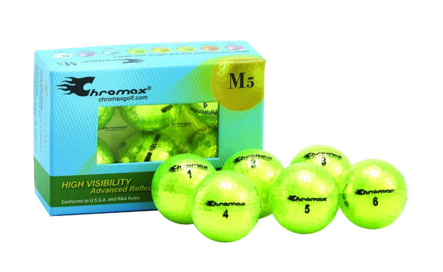 Metallic Neon Green Golf Balls