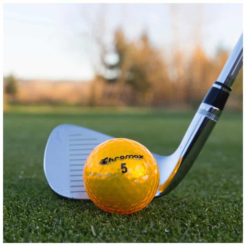 Chromax gold golf ball