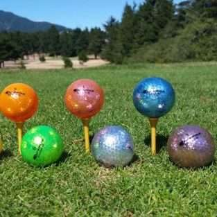 Buy Gold Silver Orange Green Golf Balls